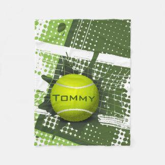 Manta del paño grueso y suave del diseño del tenis manta de forro polar