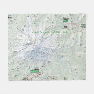 Manta del paño grueso y suave del mapa del Monte Manta De Forro Polar