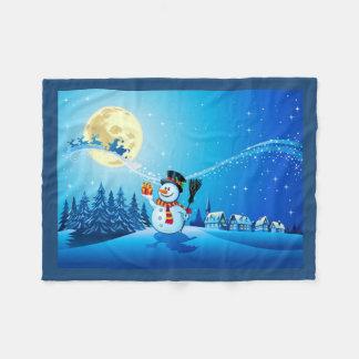 Manta del paño grueso y suave del muñeco de nieve manta de forro polar