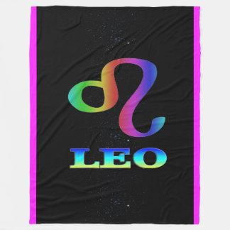 Manta del paño grueso y suave del zodiaco de Leo Manta De Forro Polar