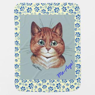 Manta escocesa de la independencia de los gatos de mantitas para bebé