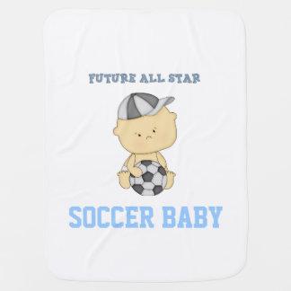 Manta futura del bebé del fútbol de All Star - Mantas De Bebé