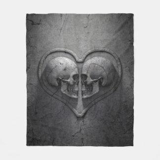 Manta gótica del paño grueso y suave del corazón manta de forro polar
