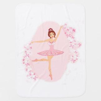 Manta hermosa del bebé de la bailarina mantitas para bebé