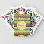 Manta india con monograma baraja de cartas