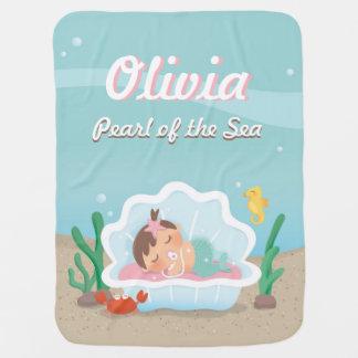 Manta linda de la niña de la sirena el dormir manta de bebé