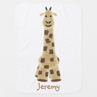 Manta linda del bebé de la jirafa mantitas para bebé