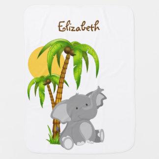 Manta linda del bebé del elefante del bebé manta de bebé