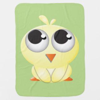 Manta linda del polluelo mantita para bebé