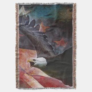 Manta patriótica del tiro de Eagle calvo