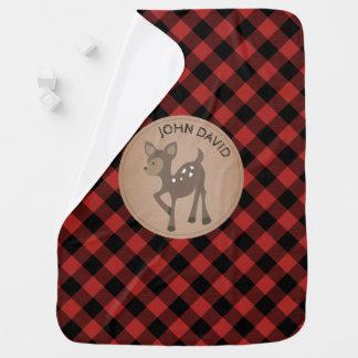 Manta personalizada de los ciervos de la tela mantita para bebé