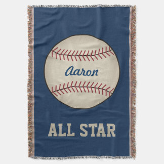 Manta personalizada del tiro del béisbol