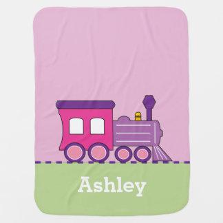 Manta personalizada tren del bebé de Choo Choo del Mantas De Bebé