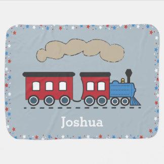 Manta personalizada tren del bebé de Choo Choo del Mantita Para Bebé