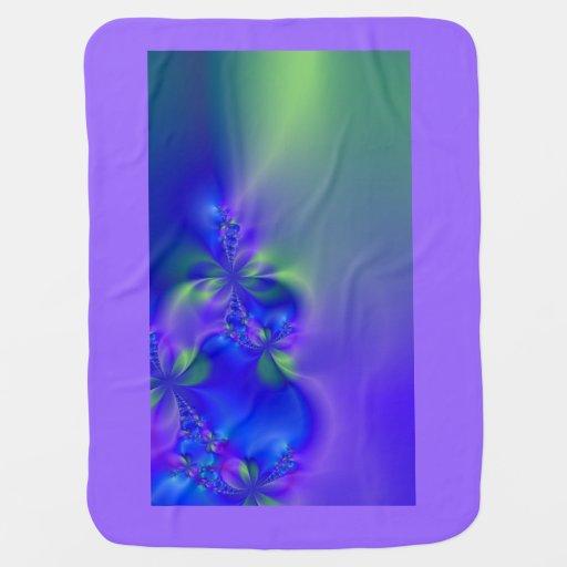 Manta psicodélica del bebé del ~ del fractal 44 manta de bebé
