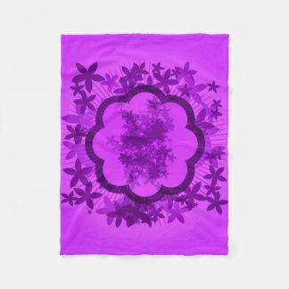 Manta púrpura del paño grueso y suave del arte del manta de forro polar