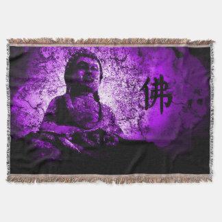 Manta púrpura del tiro de la sabiduría de Buda