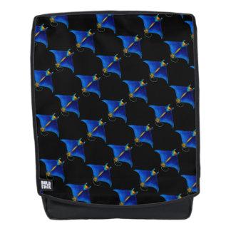 manta ray art backpack