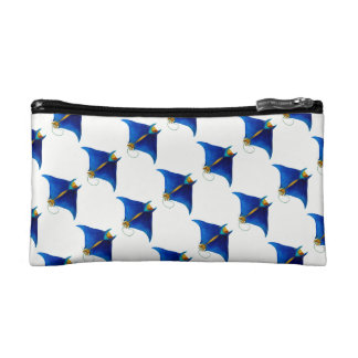 manta ray art cosmetic bag