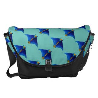 manta ray art courier bag