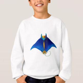 manta ray art sweatshirt