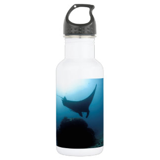 Manta ray blue ocean cleaning station 18oz water bottle