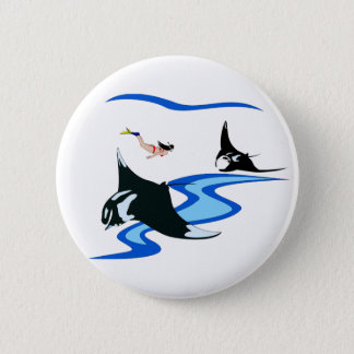 Manta Ray Button