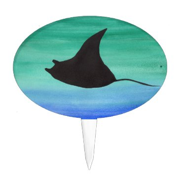 Beach Themed Manta Ray Cake Topper