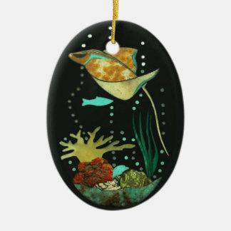 Manta Ray Ceramic Ornament