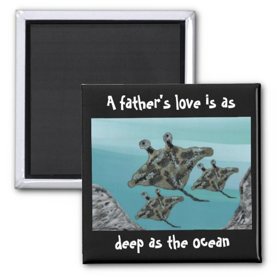 Manta Ray Father's Love Magnet