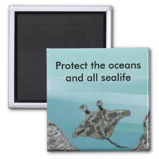 Manta Ray Habitat Protection Magnet