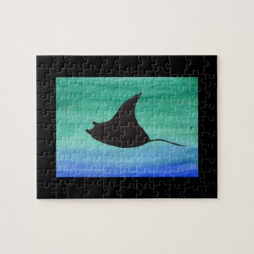 Beach Themed Manta Ray Jigsaw Puzzle