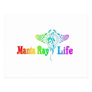 Manta Ray Life Postcard
