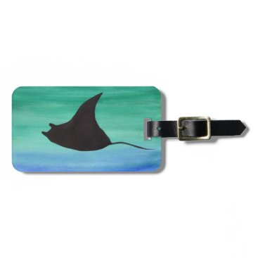 Beach Themed Manta Ray Luggage Tag