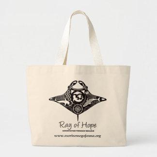 Manta Ray of Hope MMF Jumbo Tote Canvas Bag
