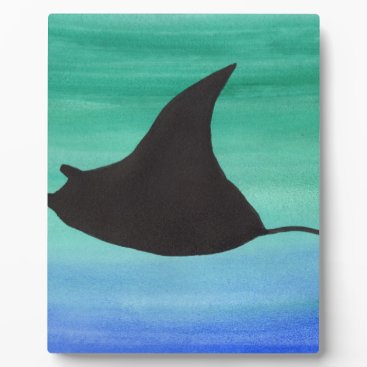 Beach Themed Manta Ray Plaque