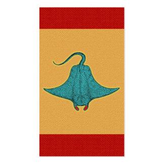 Manta Ray Pop Art Business Card