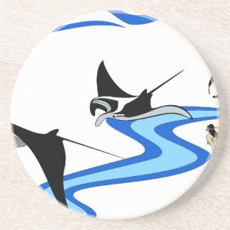 Manta Ray Sandstone Coaster
