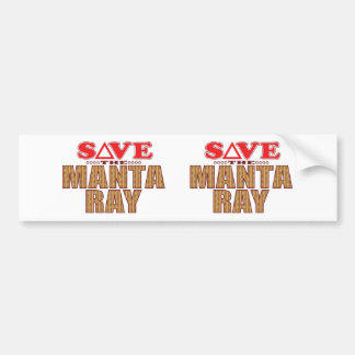 Manta Ray Save Bumper Sticker
