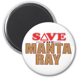 Manta Ray Save Magnet