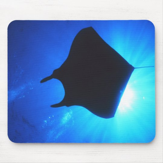 Manta Ray Silhouette Mouse Pad
