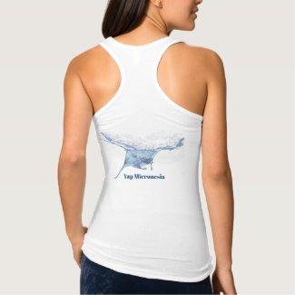 Manta ray silhouette tank top