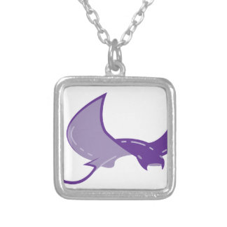 Manta Ray Silver Plated Necklace