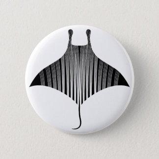 Manta Ray Tattoo Art Button