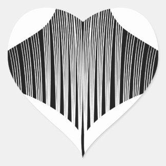 Manta Ray Tattoo Art Heart Sticker