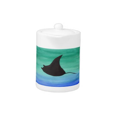 Beach Themed Manta Ray Teapot