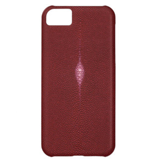 MANTA RAY TEXTURED RUBY RED iPHONE 5 CASE