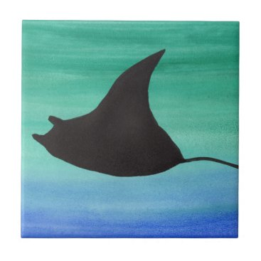 Beach Themed Manta Ray Tile