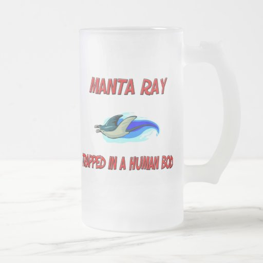Manta Ray trapped in a human body Mug