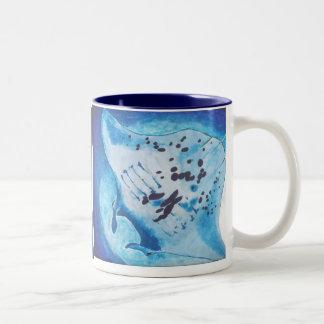 Manta Ray Two-Tone Coffee Mug